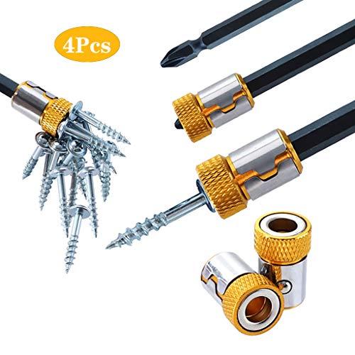 Screwdriver Magnetic Ring Removable Bit MagnetizerEfaster Bit Magnetizer Ring Screwdriver Bit Drive HolderUniversal Removable Magnetizer Ring Magnetic Steel For 635mm Screwdriver Bits 4 Pcs