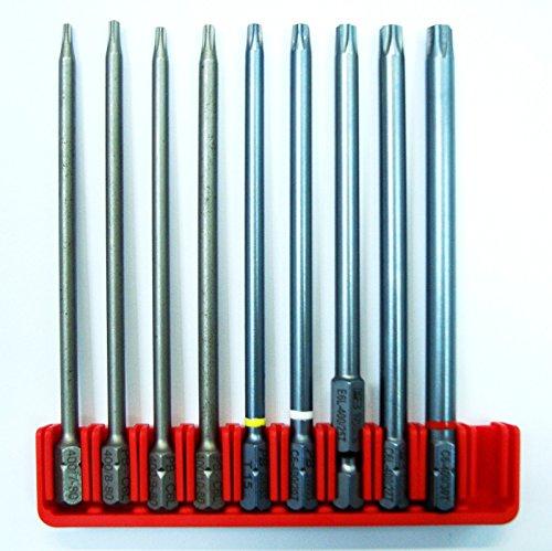 New Torx Long Bit Set 9pc TX8-30 Lenght - 334 95mm - Swiss Made