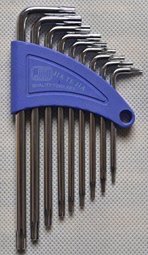 Mini 9 pcs Long Arm Star Torx Allen Hex Key Wrench Spanner Screwdriver