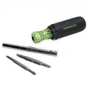 Greenlee 0153-42C 6-In-1 Multi-Tool Screwdriver - Multi Bit-2PK