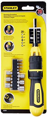 Stanley 62-574 Multibit Ratcheting Screwdriver Set Pack of 20