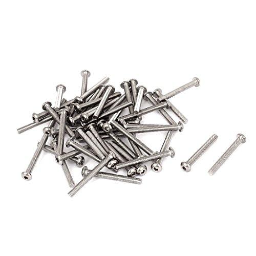 M4x35mm Stainless Steel Hex Drive Socket Button Head Bolt Screws 50pcs