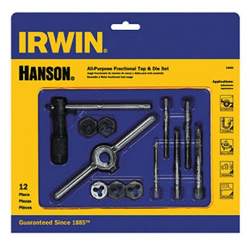 IRWIN Tools Machine Screw with Fractional Tap and Die Set 12-Piece 24605