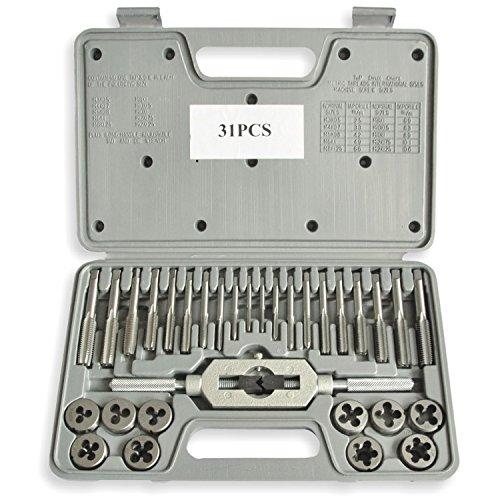 31 PCS Mini Metric Tap and Die Set M05 M07 M08 M1 M125 M15 M2 M175