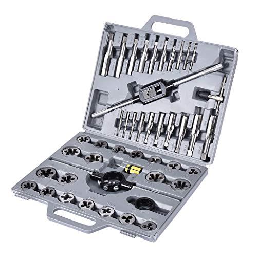 Metric Pro-Grade Standard Tap And Die Threading Tool Set Craftsman Manual tools 45 Piece Coarse and Fine Threading and Rethreading Tool Kit