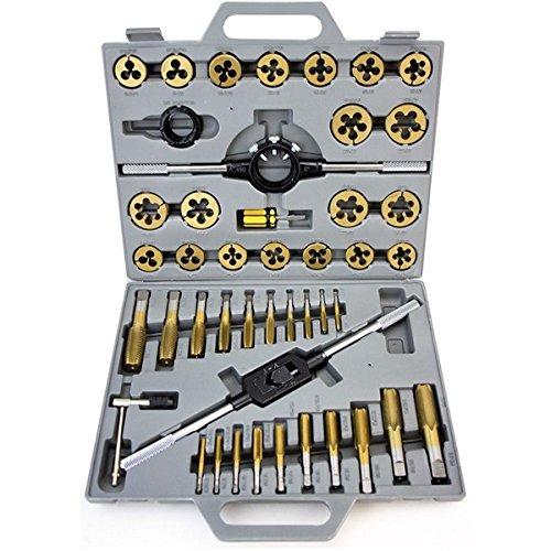 Titanium Tungsten Steel 45 Pc Jumbo Thread Tap Die Set Metric mm Renew Tool