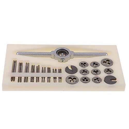 Zripool 31Pcs Mini HSS Tap and Die Set Metric Thread Plugs Taps Dies Wrench Handle Set M1-M25 Screw New