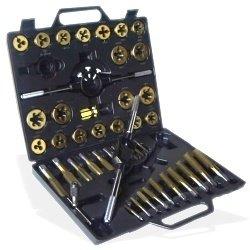 Large SAE Titanium Tap and Die Tool Set