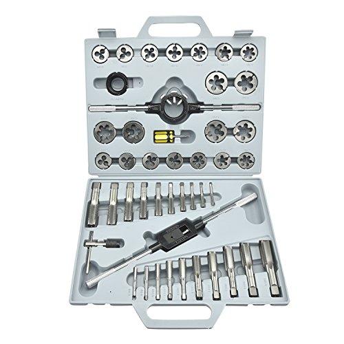 Neiko 00914A SAE Pro-Grade Large-Diameter Alloy Steel Tap Die Tool Set 45 Piece