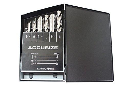 AccusizeTools - 18 PcsSet HSS Tap Drill Set UNC 0001-0040