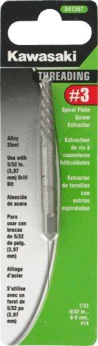 Kawasaki 841567 3 Spiral Flute Screw Extractor