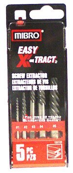 Mibro 155120 Set Spiral Flute Screw Extractors 5 Piece