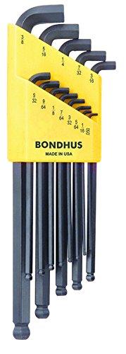 Bondhus 16537 Set of 13 Balldriver Stubby L-wrenches sizes 050-38-Inch