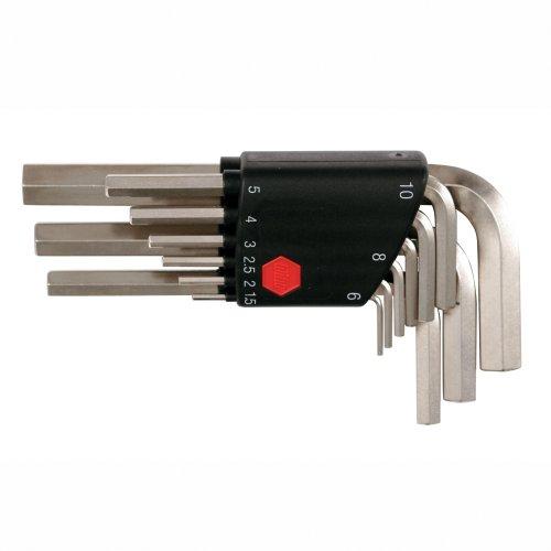 Wiha 35191 9-Piece Metric L-Wrench Set in Plastic Holder