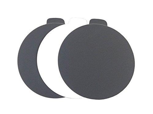5 Black Waterproof Adhesive PSA Tab Sanding Discs 100 Pack 600 Grit