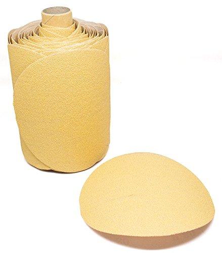 5 Discs on a Roll - PSA Gold DA Sanding Paper 100 Discs - 180 Grit