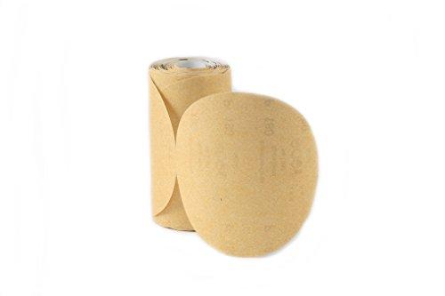 Karebac LR6C120 Premium Gold 6 PSA 120 C-Weight Aluminium Oxide Stearated 100 Sanding DiscsLinkroll Grit Sanding Discs