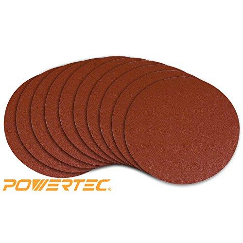 POWERTEC 110220 6-Inch PSA 120 Grit Aluminum Oxide Adhesive Sanding Disc 10-Pack