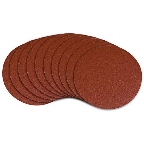 POWERTEC 110580 9-Inch PSA 80 Grit Aluminum Oxide Adhesive Sanding Disc 10-Pack