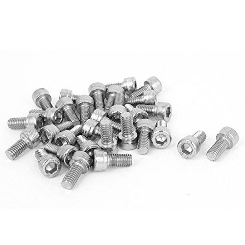 1mm Pitch 5mm Hex Key Socket Head Cap Machine Screws M6x12mm 30 Pcs