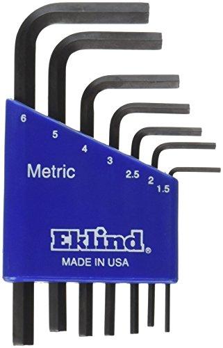 EKLIND TOOL 10507 Metric Hex-L Key Set 7-Piece