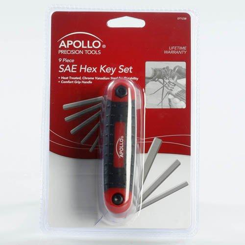 Apollo Precision Tools 9 Piece SAE Hex Key Set