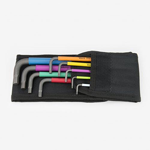 Wera 950 SPKL9 SZ Multicolor Hex  Ball End Hex SAE L-key Pouch Set