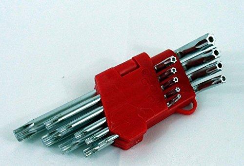 Generic NV_1008003595_YC-US2 0 T25r T Hex Key Wrench roof New 9pc Torx Star Key Security Bit h Sec Tamper Proof L Bit Set T10 T15 T20 T25 New 9pc