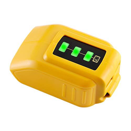 DSANKE USB Charger DCB200 DCB090 12V20V Power Source for DEWALT Converters Adapter XR MAX 108v 12v 144V 18V 20V Lithium Battery