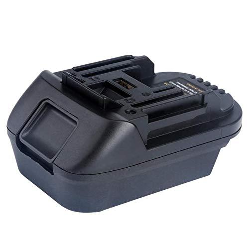 Shentesel 20V to 18V Lithium Battery Adapter Converter with USB Port for DEWALT MAKITA
