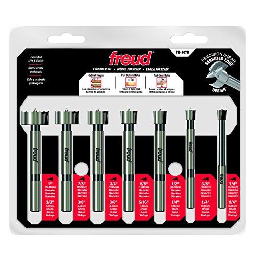 Freud 7 Pcs Precision Shear Precision Shear Forstner Drill Bit Set PB-107B