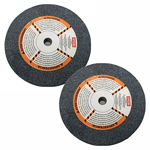 Ryobi 603601 6 in Grinding Wheel for Bench Grinder 36 grit 150 x 20 x 127 mm 2 Pack
