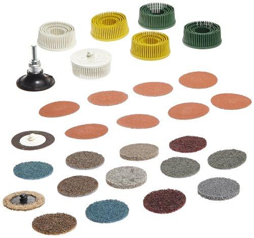 3M Roloc Bristle Disc Kit 982RS 25000 rpm 2 Diameter Pack of 5