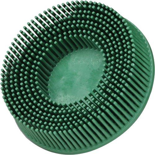 Scotch-BriteTM RolocTM Bristle Disc Ceramic 15000 rpm 3 Diameter 50 Grit Green Pack of 10