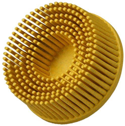 Scotch-BriteTM RolocTM Bristle Disc Ceramic 30000 rpm 1 Diameter 80 Grit Yellow Pack of 20