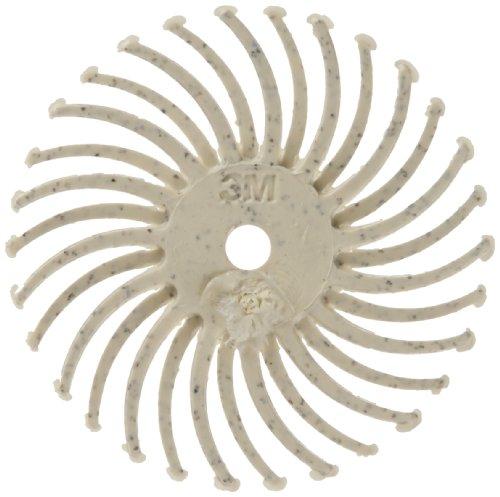 Scotch-BriteTM Radial Bristle Disc Ceramic 35000 rpm 34 Diameter 120 Grit White Pack of 48