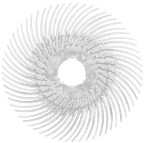 Scotch-BriteTM Radial Bristle Disc Thin Bristle Cubitron Grain 20000 rpm 3 Diameter 120 Grit White Pack of 40