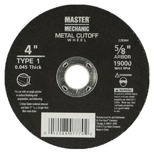 DISSTON COMPANY 232154 4x045x58 General Purpose Masonry Cutting Wheel Concrete Masonry Block MaxRPM Rating 15000