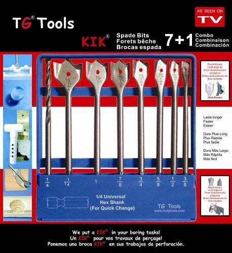 TG Tools WSJ008002 71 piece KIK Spade Drill Bit Set