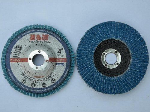 10pcs Premium FLAP DISCS 4 x 58 Zirconia 120 grit Sanding Wheel  Angle Grinder tool