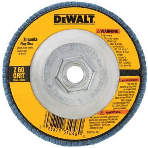 DEWALT DW8312 4-12-Inch by 58-Inch-11 60 Grit Zirconia Angle Grinder Flap Disc