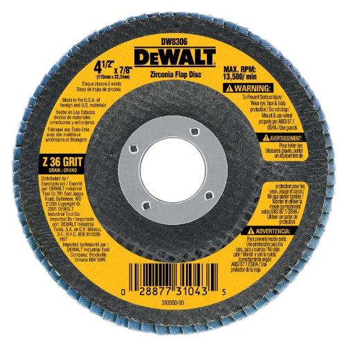DEWALT DW8324 7-Inch by 78-Inch 80 Grit Zirconia Angle Grinder Flap Disc