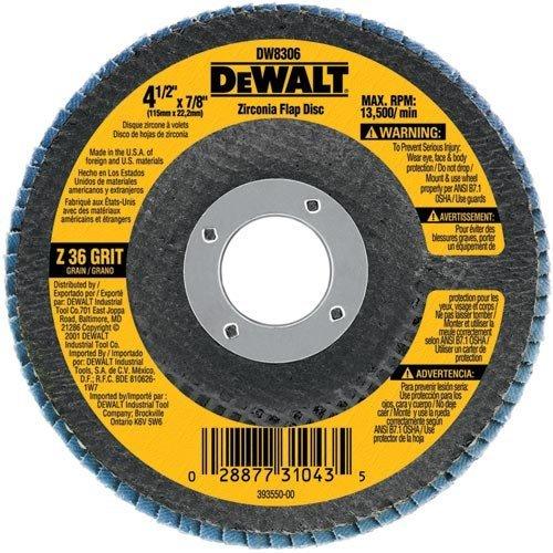DEWALT DW8335 5-Inchx 58-Inch-11 120 Grit Zirconia Angle Grinder Flap Disc