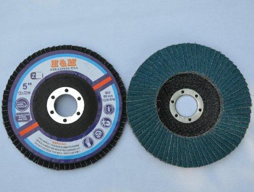 10pcs Premium FLAP DISCS 5 x 78 Zirconia 40 grit Grinding Wheel  grinder tool