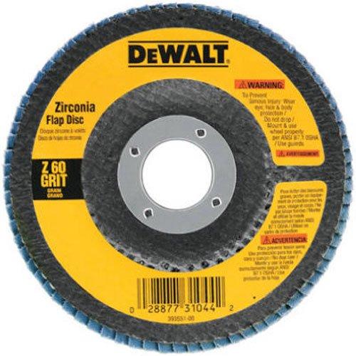 DEWALT DW8306 4-12-Inch by 78-Inch 36 Grit Zirconia Angle Grinder Flap Disc
