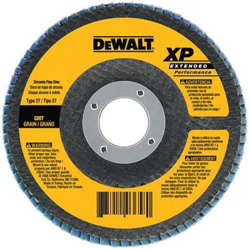 DEWALT DW8330 7-Inch by 58-Inch-11 80 Grit Zirconia Angle Grinder Flap Disc