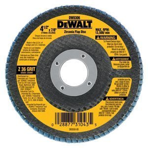 DEWALT DW8330 7-Inch by 58-Inch-11 80 Grit Zirconia Angle Grinder Flap Disc by DEWALT