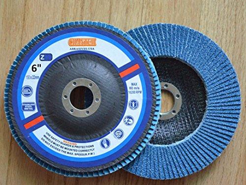 Premium FLAP DISCS 6 x 78 Zirconia 80 grit Grinding Wheel grinder tool - 5pcs Pack