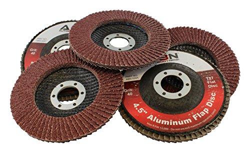 ABN 45 x 78 T27 40 Grit Aluminum Oxide Flat Flap Disc Grinding Sanding Sandpaper Wheels 5 Pack