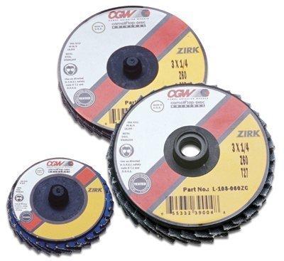 CGW ABRASIVES 30022 2 S-TYPE T27 ZIRCONIA REGULAR 40 GRIT FLAP DISC